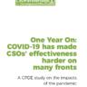 Un año después: COVID-19 ha dificultado la eficacia de las OSC en muchos frentes
