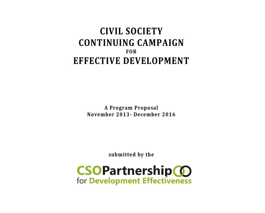 Civil Society Continuing Campaign for Effective Development